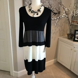 NEW Liv Striped Sweater Dress M